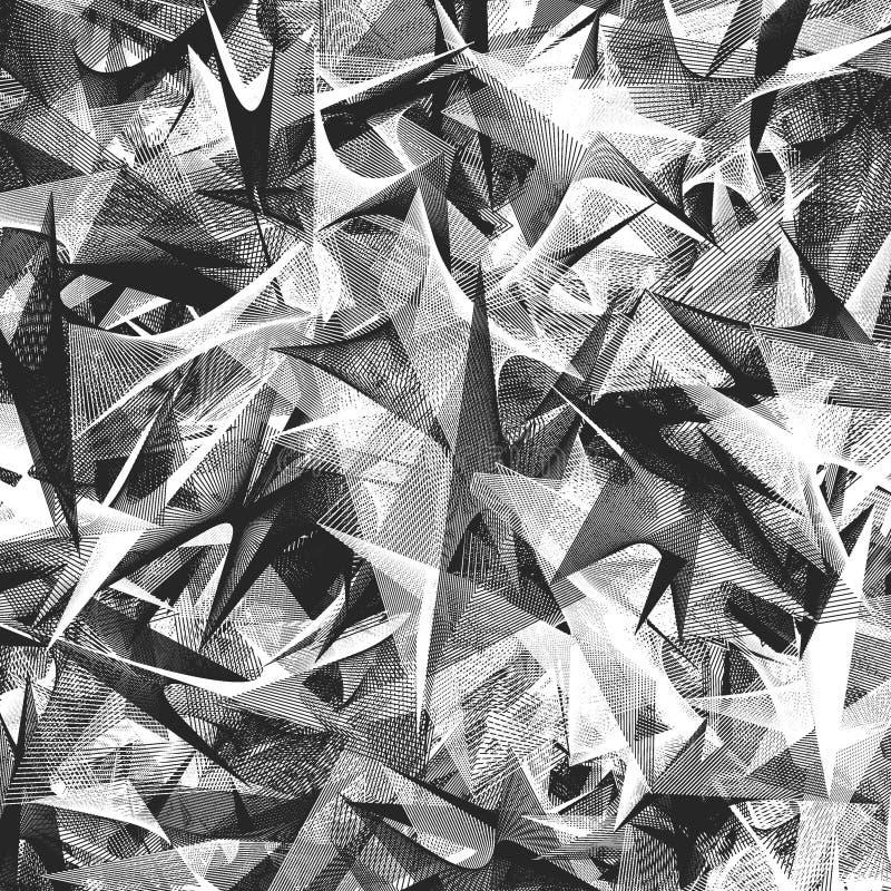 Svartvit abstrakt bakgrund royaltyfri illustrationer