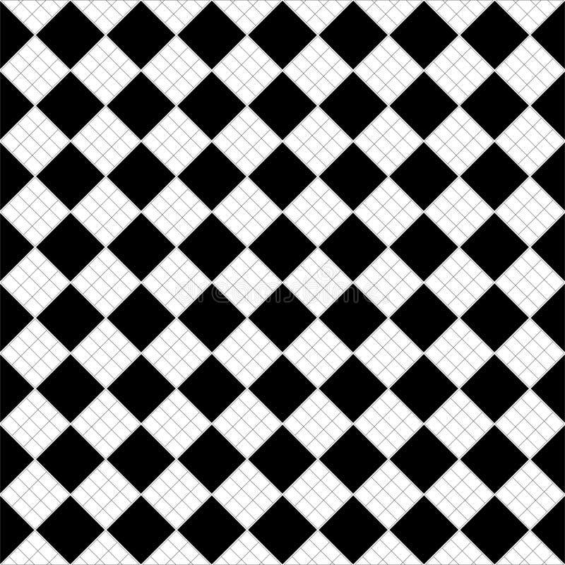 Svartvit abstrakt vektorbakgrund och den sömlösa repetitionmodellen planlägger vektor illustrationer
