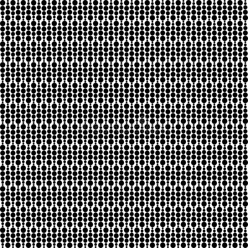 Svartvit abstrakt vektorbakgrund och den sömlösa repetitionmodellen planlägger royaltyfri illustrationer
