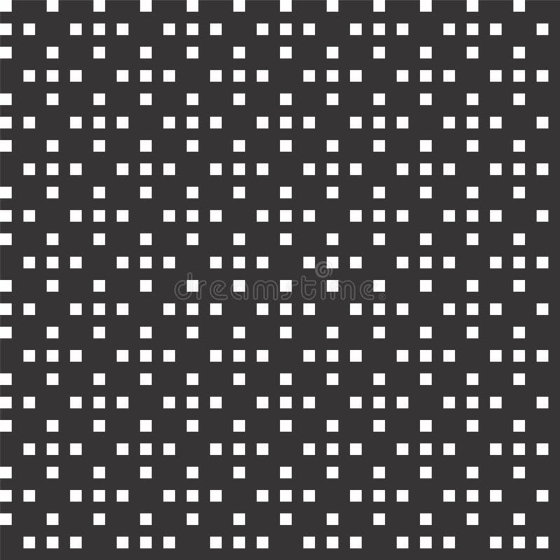 Svartvit abstrakt vektorbakgrund och den sömlösa repetitionmodellen planlägger stock illustrationer
