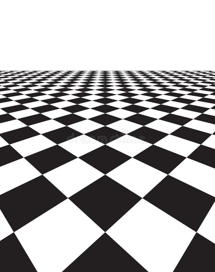 Svartvit bakgrund med kvadrerar stock illustrationer