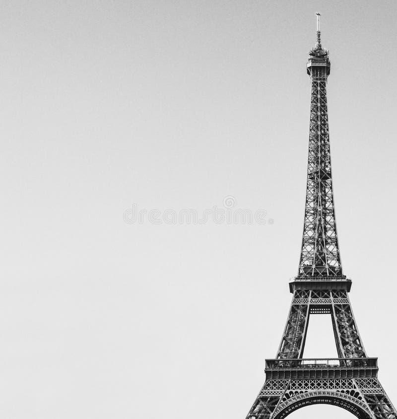 Svartvit bild för Eiffeltorn royaltyfria bilder