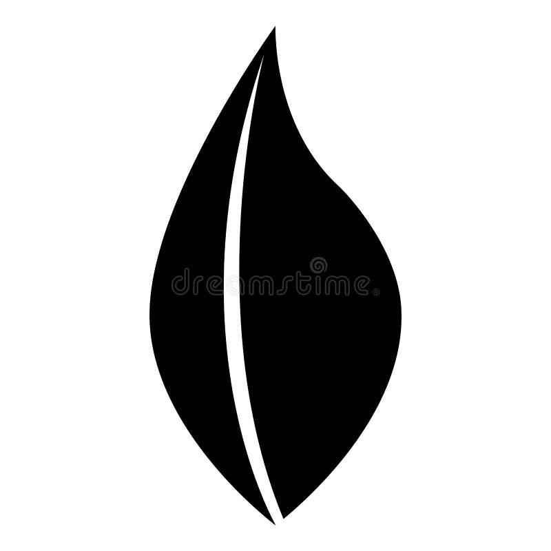 Svartvit bladsymbolsdesign, ekologitema royaltyfri illustrationer