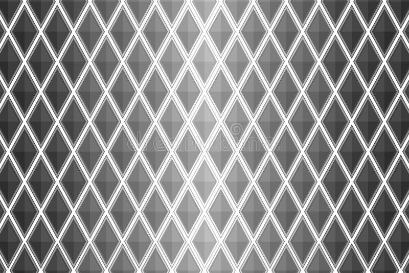 Svartvit diamant formad fyrkant royaltyfri illustrationer