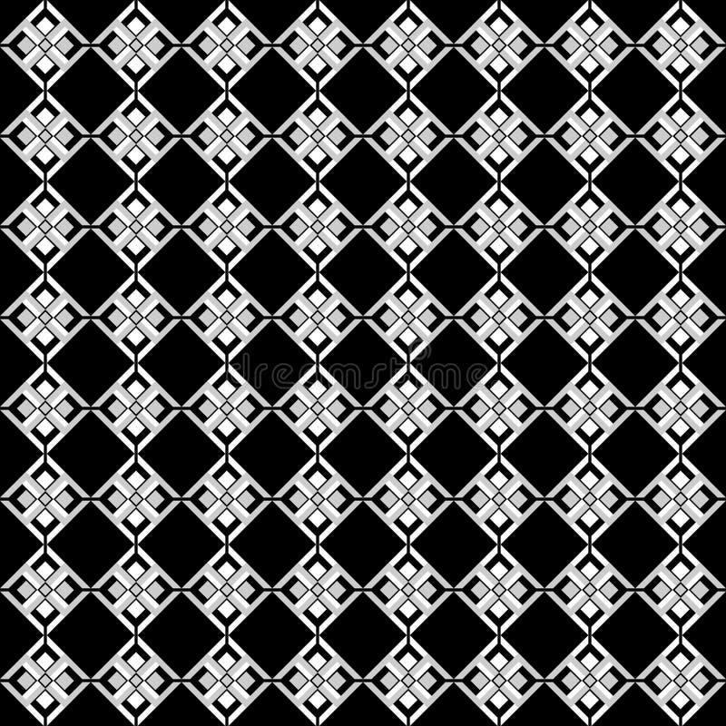 Svartvit entonig sömlös geometrisk modell för vektor royaltyfri illustrationer