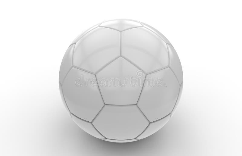 Svartvit fotbollboll; tolkning 3d stock illustrationer