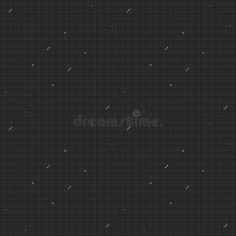 Svartvit fyrkantig sömlös textur stock illustrationer