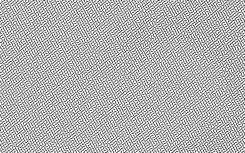 Svartvit geometrisk bakgrund med små på måfå spridda linjer Idérik illustration för hipstermodellvektor vektor illustrationer