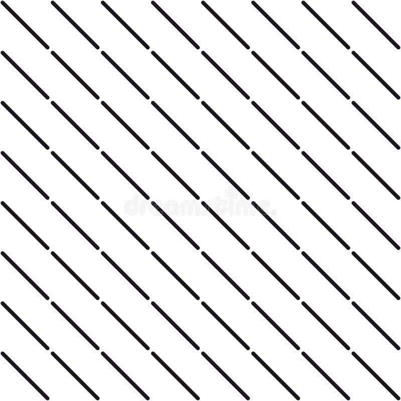 Svartvit geometrisk sömlös modell vektor illustrationer