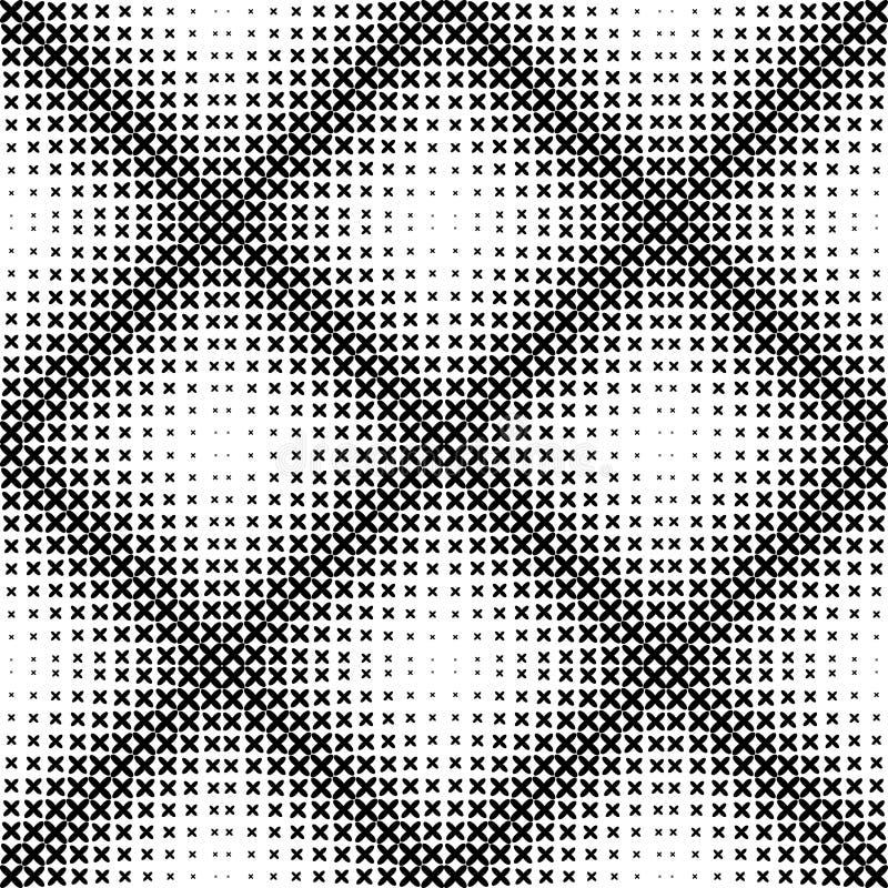 Svartvit geometrisk sömlös modell, abstrakt bakgrund stock illustrationer
