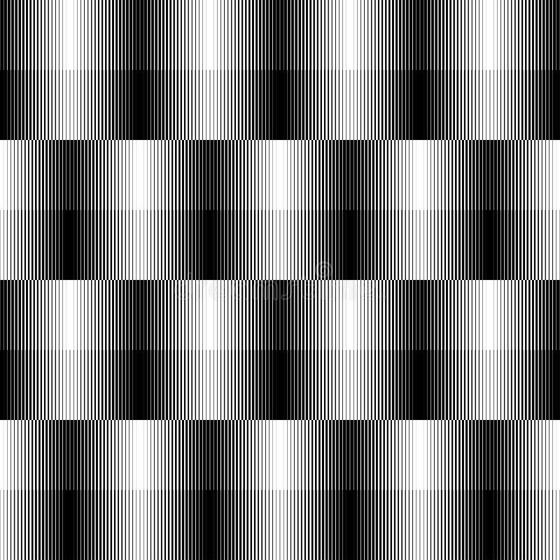 Svartvit geometrisk sömlös modell med linje, abstrakt b vektor illustrationer