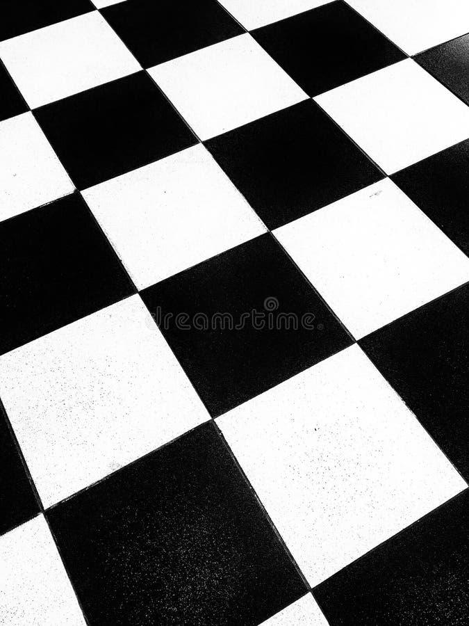 Svartvit golvtegelplatta royaltyfria foton