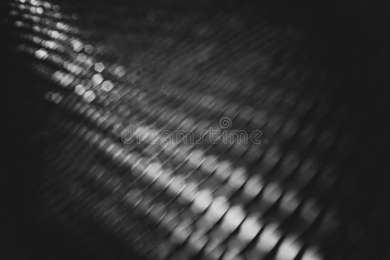Svartvit grov bokeh royaltyfria foton