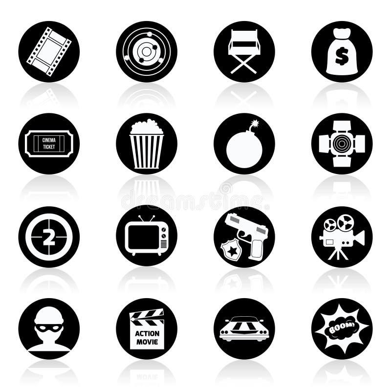 Svartvit handlingfilm vektor illustrationer