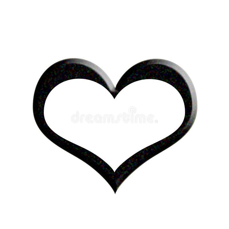 Svartvit hjärta arkivfoton