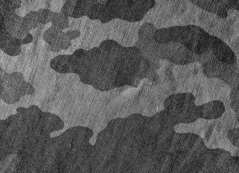 svartvit kamouflagetorkduketextur stock illustrationer