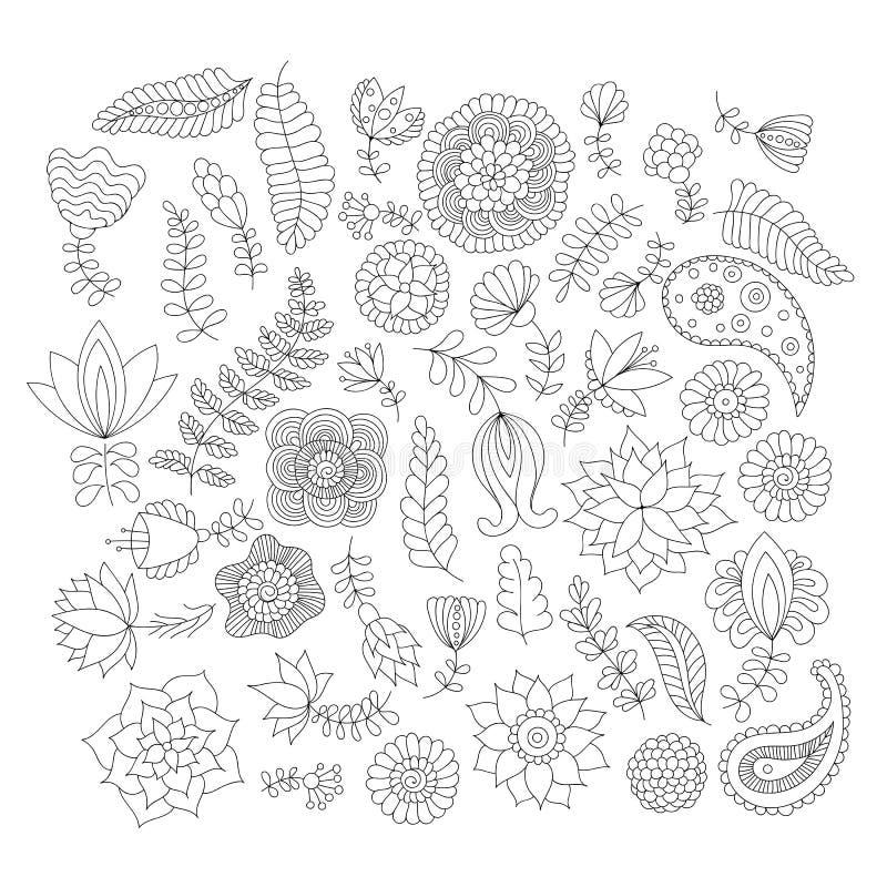 Svartvit klottermodell stock illustrationer