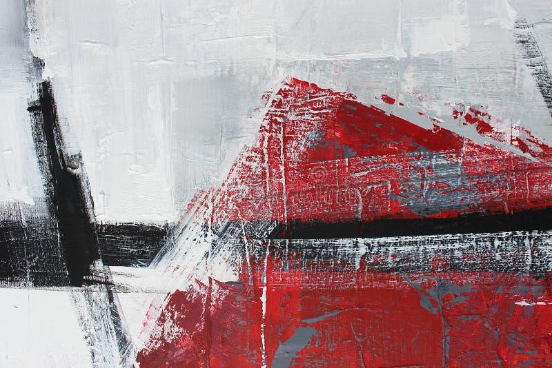 svartvit konst målad bakgrundshand Fragment av konstverk royaltyfri bild