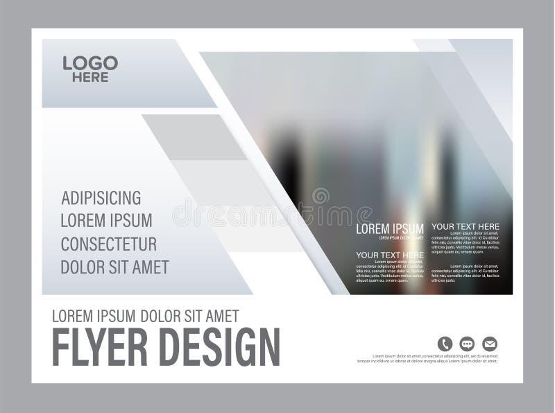 Svartvit mall för broschyrorienteringsdesign _ vektor illustrationer