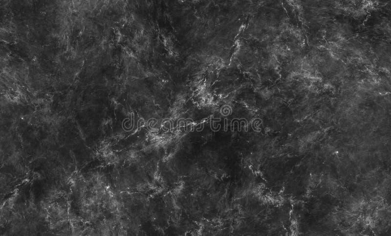 Svartvit marmortexturbakgrund för design som är sömlös vektor illustrationer