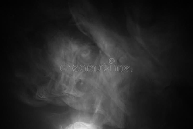 Svartvit rökabstrakt begreppbakgrund ljus natt royaltyfri fotografi