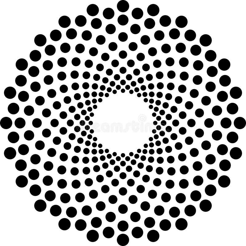 Svartvit rastrerad cirkelvektor fotografering för bildbyråer