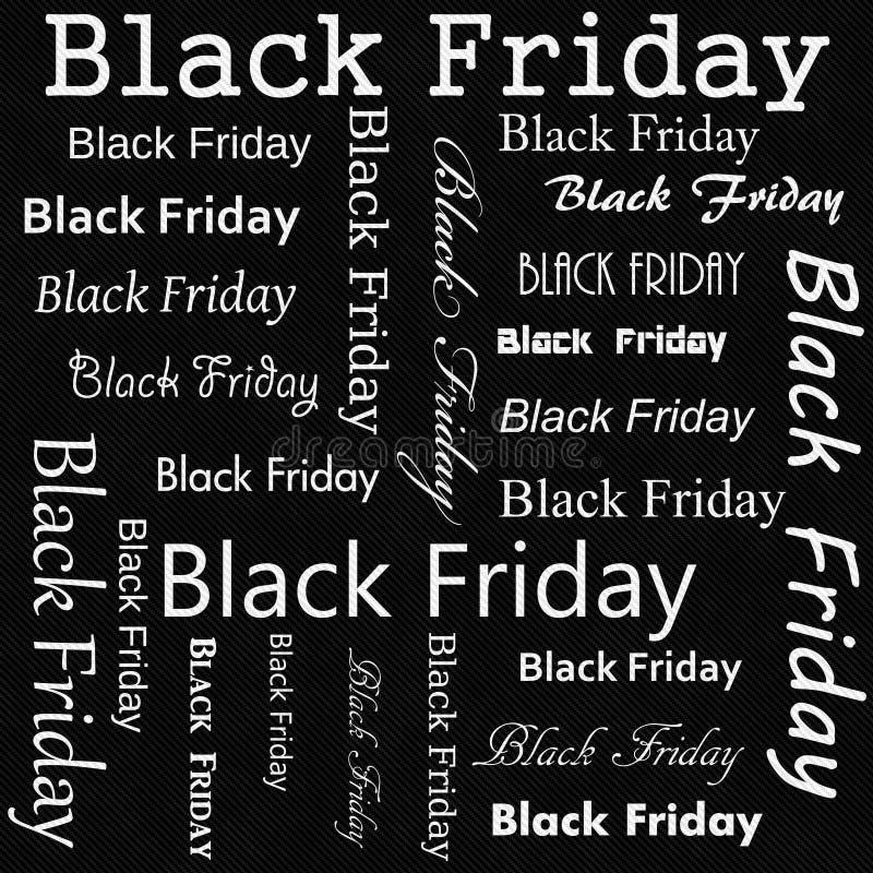 Svartvit repetition Backgrou för modell för Black Friday designtegelplatta vektor illustrationer