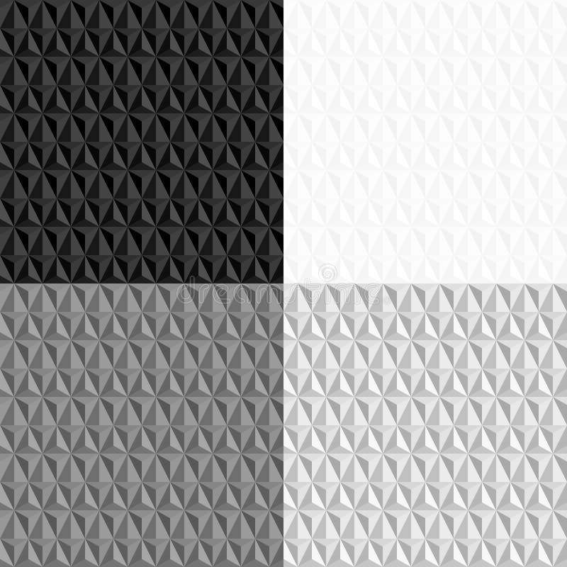 Svartvit sömlös geometrisk modell vektor illustrationer