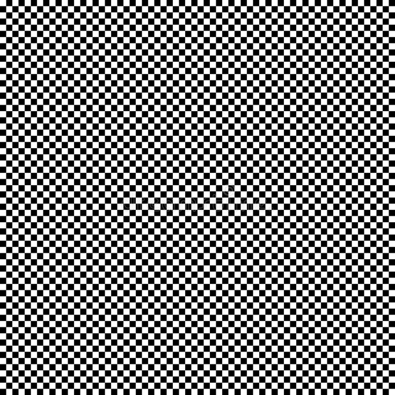 Svartvit sömlös geometrisk modell Repeatable textur royaltyfri illustrationer