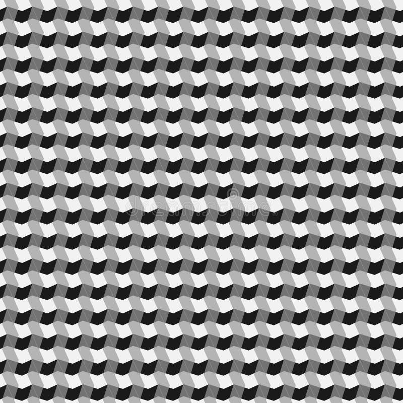Svartvit sömlös geometrisk modell Repeatable textur/, stock illustrationer