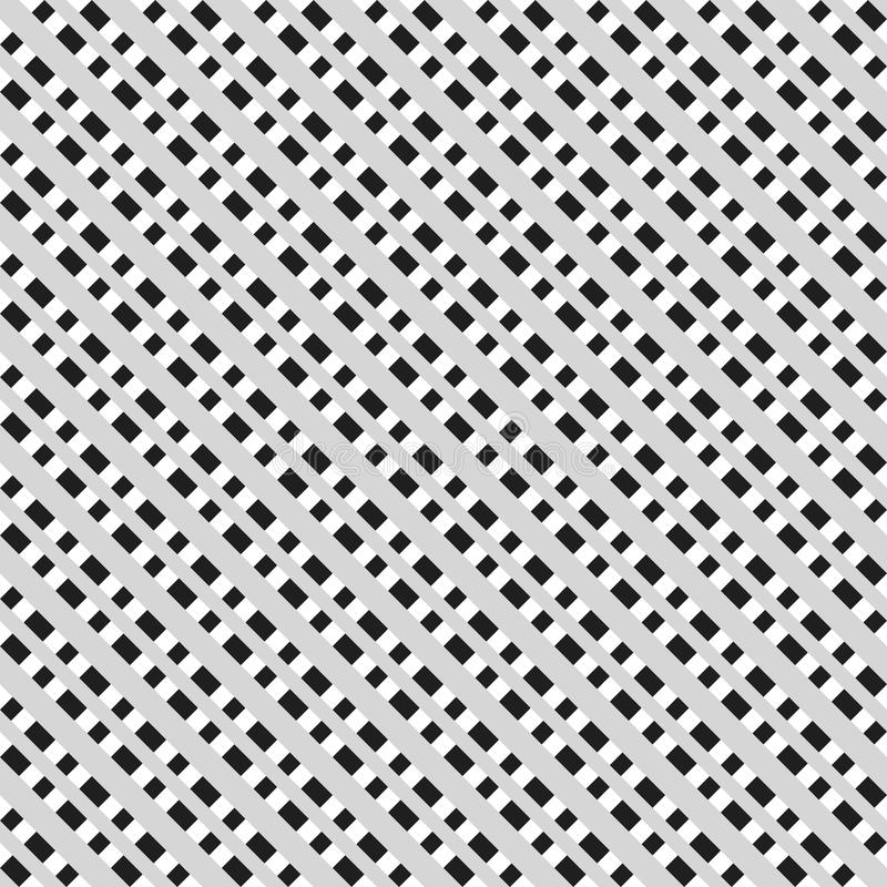 Svartvit sömlös geometrisk modell Repeatable textur/, vektor illustrationer