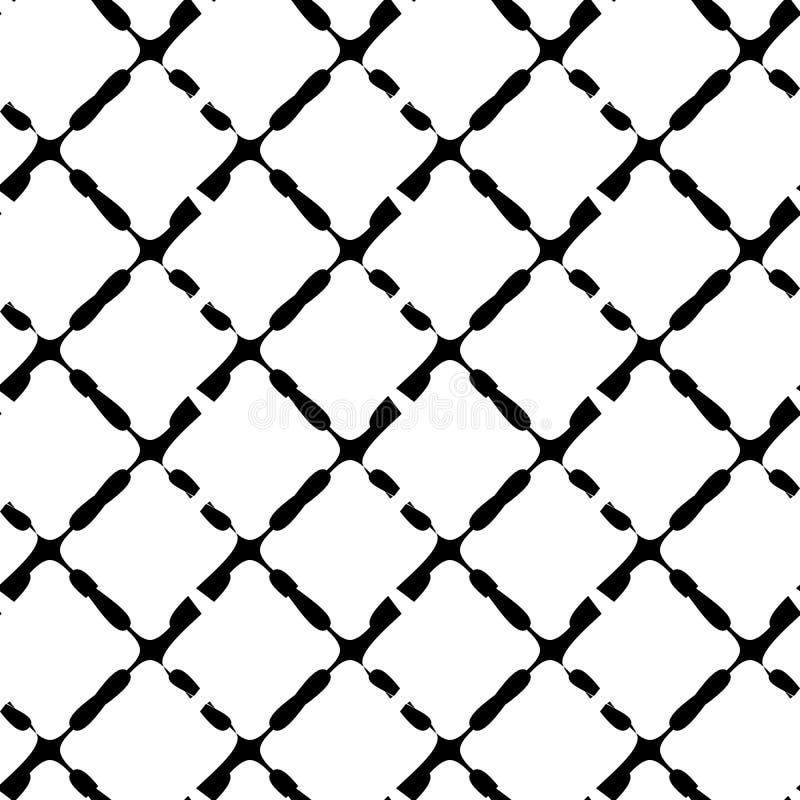 Svartvit sömlös geometrisk modell Repeatable textur/, royaltyfri illustrationer
