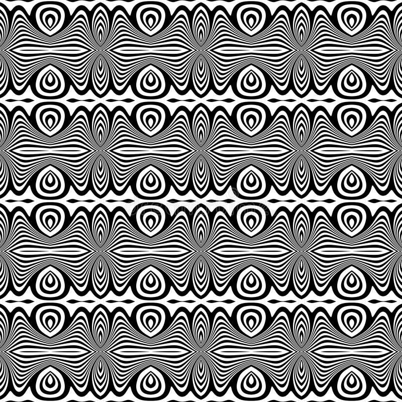 Svartvit sömlös upprepande vektormodell Mångfärgat idé stock illustrationer