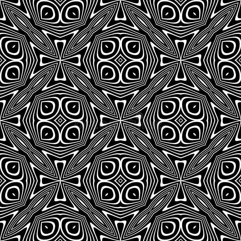Svartvit sömlös upprepande vektormodell Mångfärgat idé vektor illustrationer