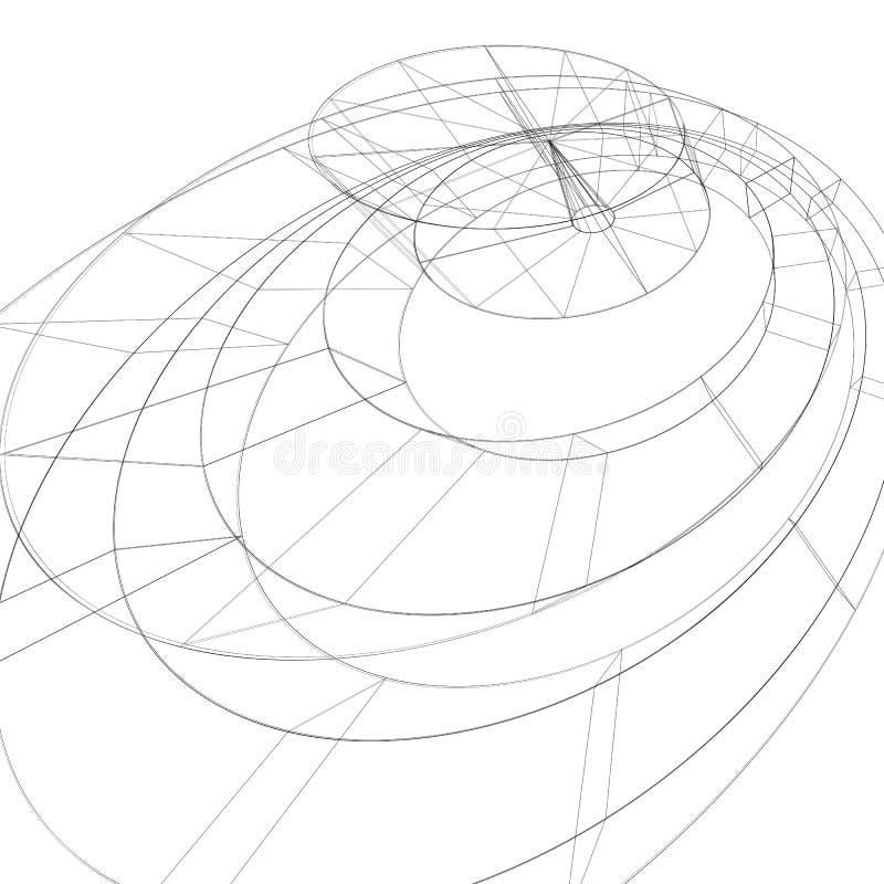 Svartvit stilfull bakgrund för modern teknologi, abst vektor illustrationer
