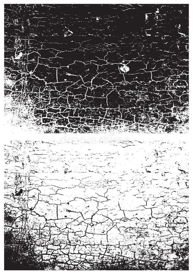Svartvit textur för Grunge E Skrapatextur bakgrund 3d framför texturväggen Textur för Rubber stämpel ungefärlig textur Rostig met stock illustrationer