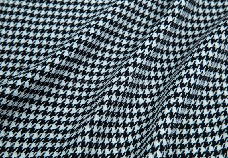 Svartvit varm tygfiskbensmönster arkivfoto