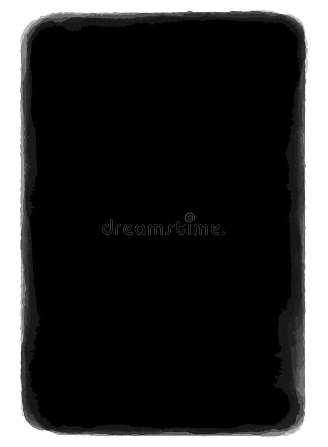 Svartvit vektortextur för Grunge Hand dragen rammall gammalt papper Substrate för mörk fläck för din design damm stock illustrationer