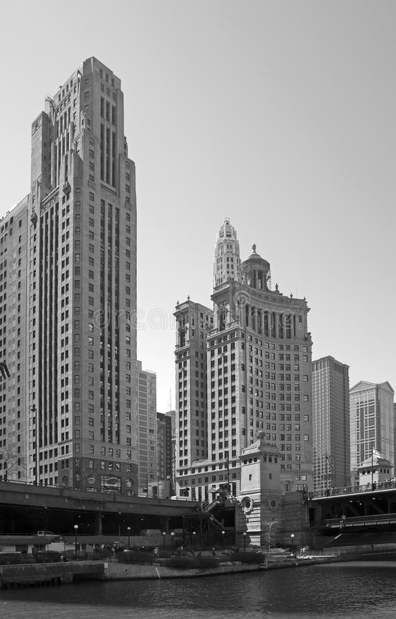 Svartvita Chicago royaltyfri fotografi