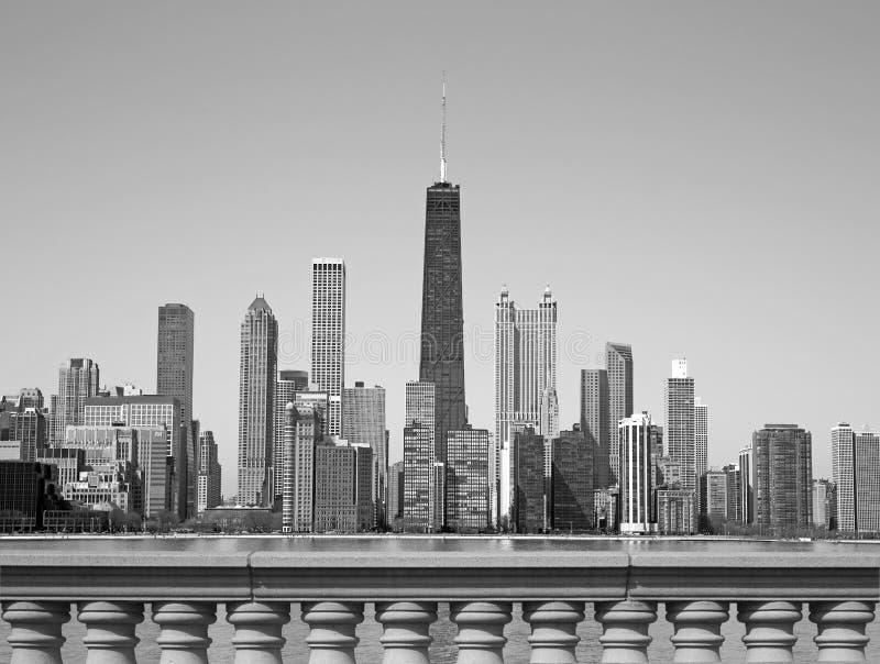 Svartvita Chicago royaltyfria bilder
