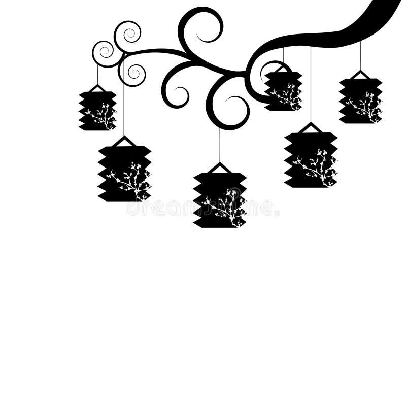 Svartvita lyktor vektor illustrationer