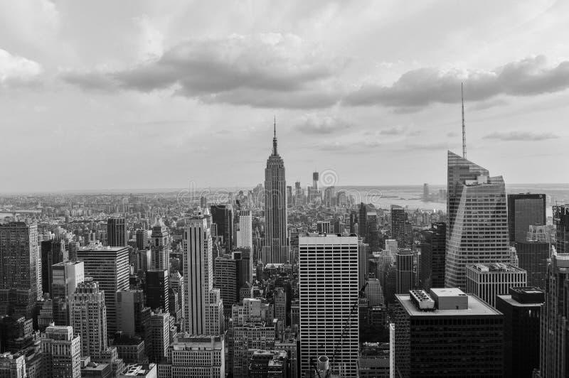 Svartvita New York royaltyfria bilder