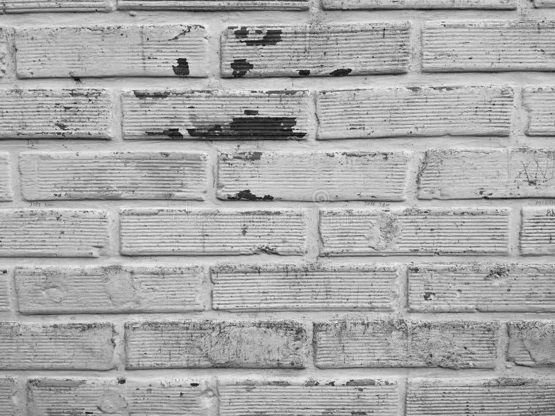 Svartvita tegelstenar arkivbild