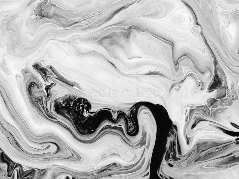 Svartvitt abstrakt begrepp målad bakgrund, tapet, textur modern konst stock illustrationer