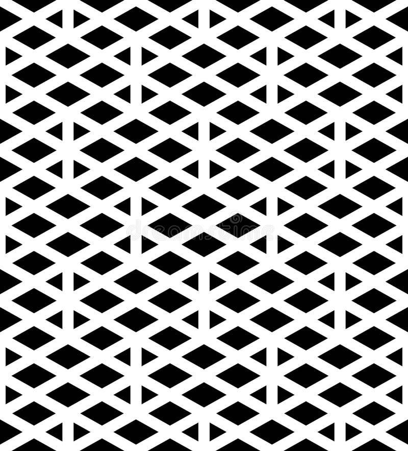 Svartvitt abstrakt begrepp texturerad geometrisk sömlös modell Sy royaltyfri illustrationer
