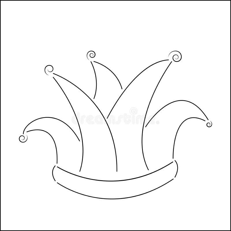 svartvitt dum \ 's-lock vektorillustrationApril dumbom \ 's-dag stock illustrationer