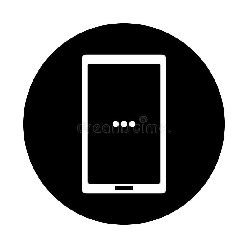 Svartvitt ila telefonsymbolen stock illustrationer