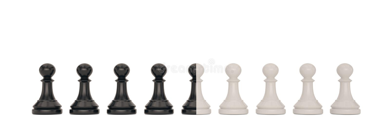 Svartvitt pantsätta över den vita illustrationen för bakgrund 3D royaltyfri illustrationer
