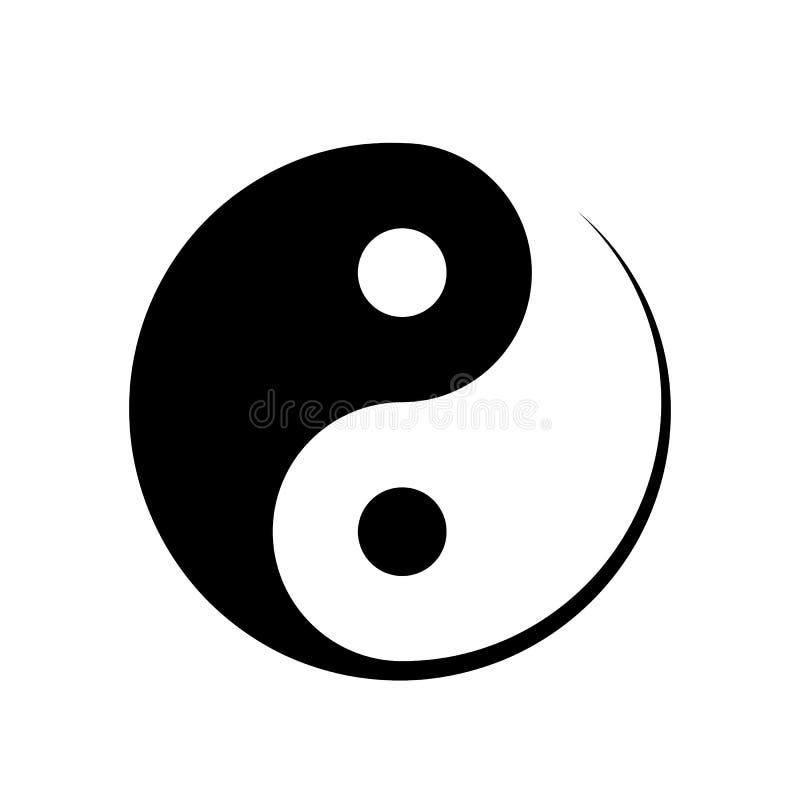 Svartvitt Yin Yang symbol royaltyfri illustrationer