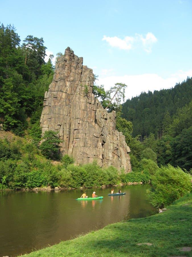 Svatoš ské rotsen in westelijke Bohemen stock afbeelding